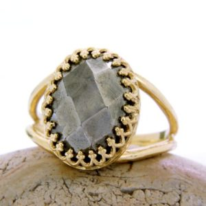 Shop Pyrite Jewelry! 14k Gold Ring, pyrite Ring, gemstone Ring, celebrity Ring, fools Gold Ring, pyrite Jewelry, bling Ring, Mineral Ring | Natural genuine Pyrite jewelry. Buy crystal jewelry, handmade handcrafted artisan jewelry for women.  Unique handmade gift ideas. #jewelry #beadedjewelry #beadedjewelry #gift #shopping #handmadejewelry #fashion #style #product #jewelry #affiliate #ad