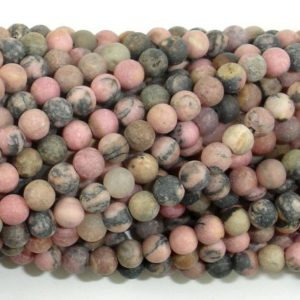 Shop Rhodonite Round Beads! Matte Rhodonite Beads, 4mm (4.5mm) Round Beads, 15 Inch, Full strand, Approx 88 beads, Hole 0.8mm (386054021) | Natural genuine round Rhodonite beads for beading and jewelry making.  #jewelry #beads #beadedjewelry #diyjewelry #jewelrymaking #beadstore #beading #affiliate #ad