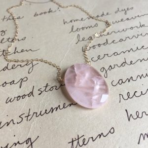 Rose Quartz Necklace – Gift For Her – Crystal Healing Necklace — Rose Quartz Pendant  – Rose Quartz Jewelry | Natural genuine Rose Quartz pendants. Buy crystal jewelry, handmade handcrafted artisan jewelry for women.  Unique handmade gift ideas. #jewelry #beadedpendants #beadedjewelry #gift #shopping #handmadejewelry #fashion #style #product #pendants #affiliate #ad