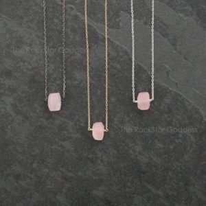 Shop Rose Quartz Pendants! Rose Quartz Necklace / Silver Rose Quartz Necklace / Gold Rose Quartz Necklace / Rose Quartz Pendant  / Open Heart Chakra / Rose Quartz | Natural genuine Rose Quartz pendants. Buy crystal jewelry, handmade handcrafted artisan jewelry for women.  Unique handmade gift ideas. #jewelry #beadedpendants #beadedjewelry #gift #shopping #handmadejewelry #fashion #style #product #pendants #affiliate #ad