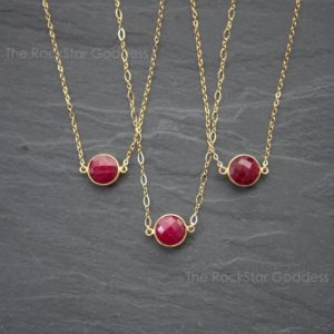 Sale / Ruby Necklace / Gold Ruby Necklace / Ruby Jewelry / July Birthstone / Ruby Pendant | Natural genuine Array jewelry. Buy crystal jewelry, handmade handcrafted artisan jewelry for women.  Unique handmade gift ideas. #jewelry #beadedjewelry #beadedjewelry #gift #shopping #handmadejewelry #fashion #style #product #jewelry #affiliate #ad