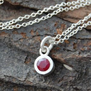 Shop Ruby Pendants! Pendant Necklace, Silver Gemstone Necklace, Silver Ruby Necklace, Red Gemstone, Birthstone Necklace, Round Pendant, Real Ruby Necklace | Natural genuine Ruby pendants. Buy crystal jewelry, handmade handcrafted artisan jewelry for women.  Unique handmade gift ideas. #jewelry #beadedpendants #beadedjewelry #gift #shopping #handmadejewelry #fashion #style #product #pendants #affiliate #ad
