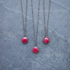 Ruby Necklace / Red Ruby / Ruby Jewelry / July Birthstone / Ruby Pendant / Ruby Gemstone | Natural genuine Array jewelry. Buy crystal jewelry, handmade handcrafted artisan jewelry for women.  Unique handmade gift ideas. #jewelry #beadedjewelry #beadedjewelry #gift #shopping #handmadejewelry #fashion #style #product #jewelry #affiliate #ad