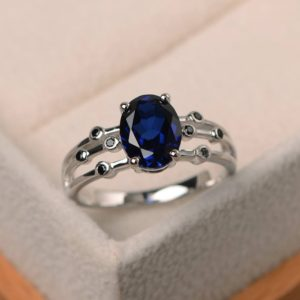 Shop Unique Sapphire Engagement Rings! Sapphire ring, wedding ring, sterling silver ring,oval cut blue gemstone, September birthstone | Natural genuine Sapphire rings, simple unique alternative gemstone engagement rings. #rings #jewelry #bridal #wedding #jewelryaccessories #engagementrings #weddingideas #affiliate #ad