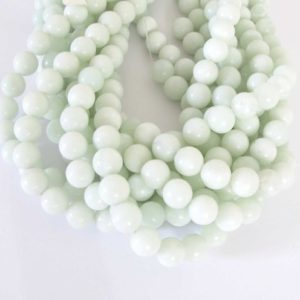 "Shop Serpentine Beads! 10mm Round Serpentine Beads, ""new Jade"", 20 Beads, 10mm Round Beads, Light Seafoam Green Gemstone Beads, Natural Serpentine Beads, New203 