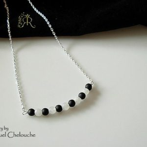 Shop Shungite Necklaces! Shungite and Rainbow moonstone bar necklace, Shungite bar necklace, Delicate Shungite necklace, Shungite,rainbow moonstone Layering necklace | Natural genuine Shungite necklaces. Buy crystal jewelry, handmade handcrafted artisan jewelry for women.  Unique handmade gift ideas. #jewelry #beadednecklaces #beadedjewelry #gift #shopping #handmadejewelry #fashion #style #product #necklaces #affiliate #ad