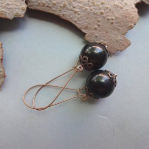 Shop Shungite Earrings! Shungite Long Kidney Earrings / black Gemstone Earrings Shungite Jewelry Gift For Co Worker Emf Protection Stone Gift For Loved Ones | Natural genuine Shungite earrings. Buy crystal jewelry, handmade handcrafted artisan jewelry for women.  Unique handmade gift ideas. #jewelry #beadedearrings #beadedjewelry #gift #shopping #handmadejewelry #fashion #style #product #earrings #affiliate #ad