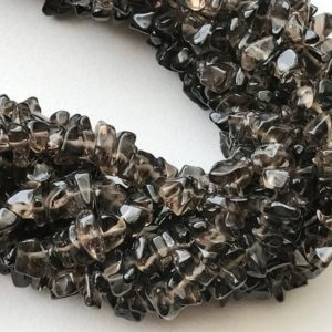 Shop Smoky Quartz Chip & Nugget Beads! 5-10mm Smoky Quartz Chip Beads, Natural Smoky Quartz Gemstone Chips, Smoky Chips, Smoky For Necklace, 32 Inch (1Strand To 5Strands Options) | Natural genuine chip Smoky Quartz beads for beading and jewelry making.  #jewelry #beads #beadedjewelry #diyjewelry #jewelrymaking #beadstore #beading #affiliate #ad