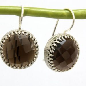 Smoky quartz earrings,silver earrings,gemstone earrings,semiprecious earrings,brown earrings,dangle earrings | Natural genuine Gemstone jewelry. Buy crystal jewelry, handmade handcrafted artisan jewelry for women.  Unique handmade gift ideas. #jewelry #beadedjewelry #beadedjewelry #gift #shopping #handmadejewelry #fashion #style #product #jewelry #affiliate #ad