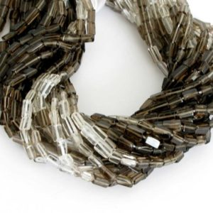 Shop Smoky Quartz Bead Shapes! Smoky Quartz Bead Strand, 7mm Smokey Quartz Rectangle Beads, Shaded Clear to Dark Smokey, Full Strand , Genuine Gemstone, Smokey204 | Natural genuine other-shape Smoky Quartz beads for beading and jewelry making.  #jewelry #beads #beadedjewelry #diyjewelry #jewelrymaking #beadstore #beading #affiliate #ad