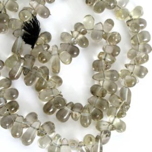 Shop Smoky Quartz Bead Shapes! Smoky Quartz Smooth Briolettes, Smokey Quartz Smooth Teardrop Beads, Full Strand Drilled Genuine Gemstone, Smokey207 | Natural genuine other-shape Smoky Quartz beads for beading and jewelry making.  #jewelry #beads #beadedjewelry #diyjewelry #jewelrymaking #beadstore #beading #affiliate #ad