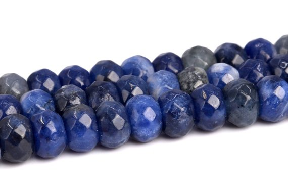 Sodalite Beads Grade Aaa Genuine Natural Gemstone Faceted Rondelle Loose Beads 6x4mm 8x5mm Bulk Lot Options