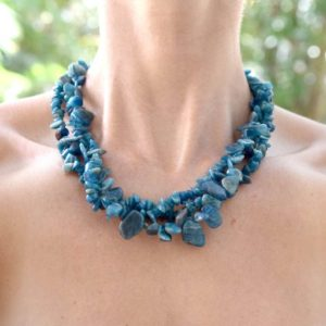 Shop Sodalite Necklaces! Sodalite Multi Strand Beaded Necklace | Natural genuine Sodalite necklaces. Buy crystal jewelry, handmade handcrafted artisan jewelry for women.  Unique handmade gift ideas. #jewelry #beadednecklaces #beadedjewelry #gift #shopping #handmadejewelry #fashion #style #product #necklaces #affiliate #ad