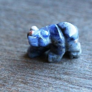 Sodalite Stone Bear Animal Figurine F177 | Natural genuine stones & crystals in various shapes & sizes. Buy raw cut, tumbled, or polished gemstones for making jewelry or crystal healing energy vibration raising reiki stones. #crystals #gemstones #crystalhealing #crystalsandgemstones #energyhealing #affiliate #ad