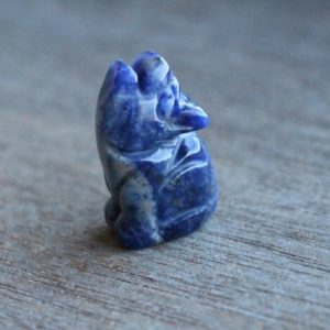 Sodalite Stone Howling Wolf Animal Figurine d13 | Natural genuine stones & crystals in various shapes & sizes. Buy raw cut, tumbled, or polished gemstones for making jewelry or crystal healing energy vibration raising reiki stones. #crystals #gemstones #crystalhealing #crystalsandgemstones #energyhealing #affiliate #ad