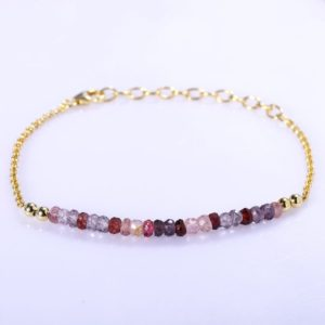 Shop Spinel Bracelets! Multi-Spinel Bracelet In Silver Gold or Rose Gold Filled Spinel Bracelet Gemstone Jewelry Multi-Spinel Jewellery Christmas Gift For Her | Natural genuine Spinel bracelets. Buy crystal jewelry, handmade handcrafted artisan jewelry for women.  Unique handmade gift ideas. #jewelry #beadedbracelets #beadedjewelry #gift #shopping #handmadejewelry #fashion #style #product #bracelets #affiliate #ad