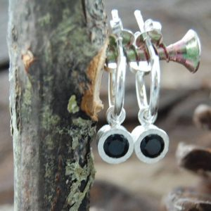 Shop Spinel Earrings! 925 Silver Hoop Earring-earrings Black-gemstone Hoops-sterling Silver Hoops-silver Drop Earring-black Hoops-black Gemstone-spinel Jewelry | Natural genuine Spinel earrings. Buy crystal jewelry, handmade handcrafted artisan jewelry for women.  Unique handmade gift ideas. #jewelry #beadedearrings #beadedjewelry #gift #shopping #handmadejewelry #fashion #style #product #earrings #affiliate #ad