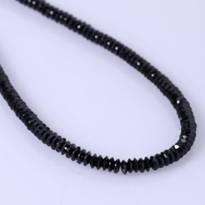 Shop Spinel Necklaces! Black Spinel Disc Shape Diamond Cut Necklace Black Spinel Gemstone Necklace Black Spinel Jewelry Birthday Gift for her Christmas Gift | Natural genuine Spinel necklaces. Buy crystal jewelry, handmade handcrafted artisan jewelry for women.  Unique handmade gift ideas. #jewelry #beadednecklaces #beadedjewelry #gift #shopping #handmadejewelry #fashion #style #product #necklaces #affiliate #ad