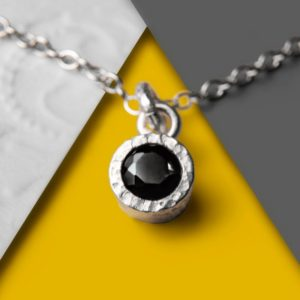 Shop Spinel Jewelry! Black Spinel Necklace, Necklace, Silver Gemstone Necklace, Designer Gemstone Necklace, Simple Necklace, Round Pendant, 925 Silver Necklace | Natural genuine Spinel jewelry. Buy crystal jewelry, handmade handcrafted artisan jewelry for women.  Unique handmade gift ideas. #jewelry #beadedjewelry #beadedjewelry #gift #shopping #handmadejewelry #fashion #style #product #jewelry #affiliate #ad