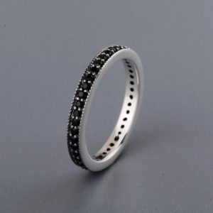 Shop Spinel Rings! Beautiful 925 Sterling Silver Oxidized Black Spinel Statement Ring, Friendship Ring, engagement Ring Party Ring | Natural genuine Spinel rings, simple unique alternative gemstone engagement rings. #rings #jewelry #bridal #wedding #jewelryaccessories #engagementrings #weddingideas #affiliate #ad