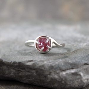 Shop Spinel Rings! Red Spinel Ring – Uncut Red Spinel Ring – Raw Red Spinel Gemstone – Uncut Rough Gemstone Rings – Rustic Jewellery | Natural genuine Spinel rings, simple unique handcrafted gemstone rings. #rings #jewelry #shopping #gift #handmade #fashion #style #affiliate #ad