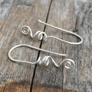 Shop Findings for Jewelry Making! Sterling Silver Ear Wire Handmade Sterling Ear Wire Artisan Ear Wire Jewelry Supply Sterling Silver Jewelry Findings | Shop jewelry making and beading supplies, tools & findings for DIY jewelry making and crafts. #jewelrymaking #diyjewelry #jewelrycrafts #jewelrysupplies #beading #affiliate #ad