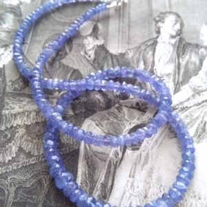 Shop Tanzanite Necklaces! Tanzanite bead necklace, faceted natural violet tanzanites | Natural genuine Tanzanite necklaces. Buy crystal jewelry, handmade handcrafted artisan jewelry for women.  Unique handmade gift ideas. #jewelry #beadednecklaces #beadedjewelry #gift #shopping #handmadejewelry #fashion #style #product #necklaces #affiliate #ad
