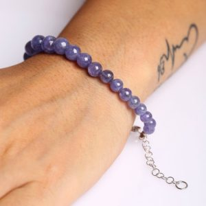 Shop Tanzanite Bracelets! Dainty Tanzanite Plain Round Gemstone Bracelet, December Birthstone, Chakra Bracelet, Healing Bracelet, Gemstone Bracelet | Natural genuine Tanzanite bracelets. Buy crystal jewelry, handmade handcrafted artisan jewelry for women.  Unique handmade gift ideas. #jewelry #beadedbracelets #beadedjewelry #gift #shopping #handmadejewelry #fashion #style #product #bracelets #affiliate #ad