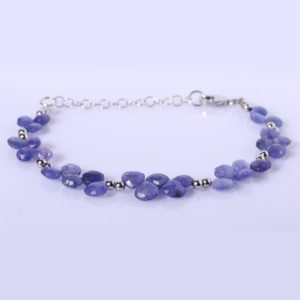 Shop Tanzanite Bracelets! Tanzanite Faceted Heart Bracelet Purple Gemstone December Birthstone Dainty Bracelet Gift For Her | Natural genuine Tanzanite bracelets. Buy crystal jewelry, handmade handcrafted artisan jewelry for women.  Unique handmade gift ideas. #jewelry #beadedbracelets #beadedjewelry #gift #shopping #handmadejewelry #fashion #style #product #bracelets #affiliate #ad