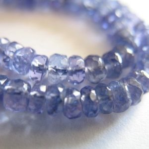 10-50 Pcs, Tanzanite Rondelles Beads Roundels Rondels, Faceted Wholesale Gems, Luxe Aaa, 2.5-3 Mm, Periwinkle Blue, December Birthstone 23 | Natural genuine faceted Tanzanite beads for beading and jewelry making.  #jewelry #beads #beadedjewelry #diyjewelry #jewelrymaking #beadstore #beading #affiliate #ad