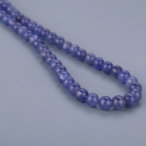 Shop Tanzanite Necklaces! Tanzanite Plain Round Beaded Necklace Blue Necklace 1 Strand Neckpiece December Birthstone Birthday Gift Confirmation Gift | Natural genuine Tanzanite necklaces. Buy crystal jewelry, handmade handcrafted artisan jewelry for women.  Unique handmade gift ideas. #jewelry #beadednecklaces #beadedjewelry #gift #shopping #handmadejewelry #fashion #style #product #necklaces #affiliate #ad
