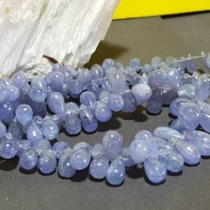 Shop Tanzanite Bead Shapes! Tanzanite Graduating Smooth Drop Gemstone Beads 14 In. Full Strand, Smooth Tear Drop Briolette Beads, Natural Tanzanite Pear Shape Beads, | Natural genuine other-shape Tanzanite beads for beading and jewelry making.  #jewelry #beads #beadedjewelry #diyjewelry #jewelrymaking #beadstore #beading #affiliate #ad