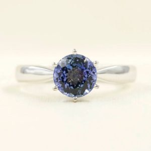 Shop Tanzanite Rings! Tanzanite Engagement Ring/Solitaire Wedding Ring/14k White Gold Ring/Solitaire Engagement Ring/Simple Engagement Ring/7mm High Quality Ring | Natural genuine gemstone jewelry in modern, chic, boho, elegant styles. Buy crystal handmade handcrafted artisan art jewelry & accessories. #jewelry #beaded #beadedjewelry #product #gifts #shopping #style #fashion #product