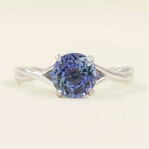 Shop Tanzanite Rings! Tanzanite Engagement Ring.Solitaire Wedding Ring.14k White Gold Ring .Solitaire Engagement Ring.Simple Engagement Ring.7mm AAA Quality. | Natural genuine gemstone jewelry in modern, chic, boho, elegant styles. Buy crystal handmade handcrafted artisan art jewelry & accessories. #jewelry #beaded #beadedjewelry #product #gifts #shopping #style #fashion #product