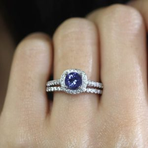 Shop Tanzanite Rings! Unique Tanzanite Engagement Ring Set.Tanzanite Bridal Set.Diamond Wedding Ring Set.Diamond Engagement Ring.Natural Tanzanite & Diamond. 3PCS | Natural genuine Tanzanite rings, simple unique alternative gemstone engagement rings. #rings #jewelry #bridal #wedding #jewelryaccessories #engagementrings #weddingideas #affiliate #ad