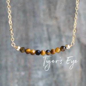 Shop Tiger Eye Jewelry! Tigers Eye Necklace    Tiger Eye Jewelry    Gemstone Necklace   Gifts for Women   Crystal Protection Beads   Rose Gold Sterling Silver | Natural genuine Tiger Eye jewelry. Buy crystal jewelry, handmade handcrafted artisan jewelry for women.  Unique handmade gift ideas. #jewelry #beadedjewelry #beadedjewelry #gift #shopping #handmadejewelry #fashion #style #product #jewelry #affiliate #ad