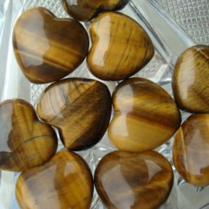 Shop Tiger Eye Stones & Crystals! Tiger Eye Shaped Heart #H49 | Natural genuine stones & crystals in various shapes & sizes. Buy raw cut, tumbled, or polished gemstones for making jewelry or crystal healing energy vibration raising reiki stones. #crystals #gemstones #crystalhealing #crystalsandgemstones #energyhealing #affiliate #ad