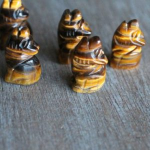 Shop Tiger Eye Stones & Crystals! Tiger Eye Stone Wolf Figurine F10 | Natural genuine stones & crystals in various shapes & sizes. Buy raw cut, tumbled, or polished gemstones for making jewelry or crystal healing energy vibration raising reiki stones. #crystals #gemstones #crystalhealing #crystalsandgemstones #energyhealing #affiliate #ad