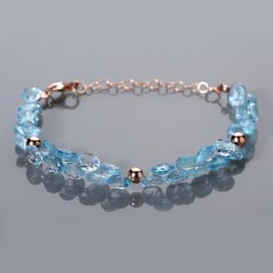 Shop Topaz Bracelets! Blue Topaz Bracelet Sterling Silver Bracelet Blue Bracelet December Birthstone Jewelry Gemstone Bracelet Blue Topaz Bracelet Christmas Gift | Natural genuine Topaz bracelets. Buy crystal jewelry, handmade handcrafted artisan jewelry for women.  Unique handmade gift ideas. #jewelry #beadedbracelets #beadedjewelry #gift #shopping #handmadejewelry #fashion #style #product #bracelets #affiliate #ad