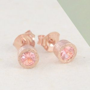 Pink Tourmaline Earrings, Gemstone Earrings, Stud Earrings, Tourmaline Studs, Rose Gold Earrings, Rose Gold Studs, Pink Stone Earrings | Natural genuine Tourmaline earrings. Buy crystal jewelry, handmade handcrafted artisan jewelry for women.  Unique handmade gift ideas. #jewelry #beadedearrings #beadedjewelry #gift #shopping #handmadejewelry #fashion #style #product #earrings #affiliate #ad