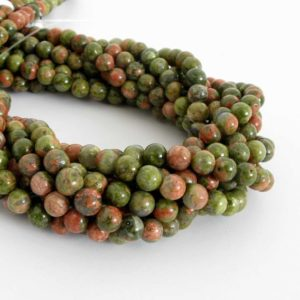Shop Unakite Round Beads! Unakite Beads, 6mm Round Unakite Beads, Pink And Green Gemstone, 15 Inch Strand, 6mm Smooth Round, Una206 | Natural genuine round Unakite beads for beading and jewelry making.  #jewelry #beads #beadedjewelry #diyjewelry #jewelrymaking #beadstore #beading #affiliate #ad