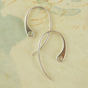 Shop Findings for Jewelry Making! 2 Pairs Sterling Silver Stunning Ear Wires – 20 gauge – Made in the USA – 18mm X 10mm | Shop jewelry making and beading supplies, tools & findings for DIY jewelry making and crafts. #jewelrymaking #diyjewelry #jewelrycrafts #jewelrysupplies #beading #affiliate #ad
