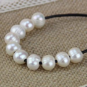 2mm large hole pearls bead,white large hole freshwater pearls,10mm potato near round big hole pearls wholesale,leather jewelry material,5pcs | Shop jewelry making and beading supplies, tools & findings for DIY jewelry making and crafts. #jewelrymaking #diyjewelry #jewelrycrafts #jewelrysupplies #beading #affiliate #ad