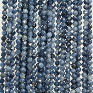 Shop Sapphire Round Beads! 3mm Blue Sapphire Gemstone Blue Grade AAA Fine Faceted Round Cut Loose Beads 16 inch Half Strand (80005375-461) | Natural genuine round Sapphire beads for beading and jewelry making.  #jewelry #beads #beadedjewelry #diyjewelry #jewelrymaking #beadstore #beading #affiliate #ad