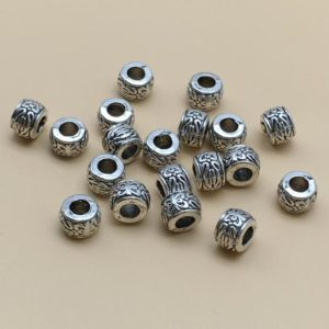 Shop Hemp Jewelry Making Supplies! 50PCS  Tibetan Beads ,Antique Silver Beads , Large hole beads , European Beads | Shop jewelry making and beading supplies, tools & findings for DIY jewelry making and crafts. #jewelrymaking #diyjewelry #jewelrycrafts #jewelrysupplies #beading #affiliate #ad