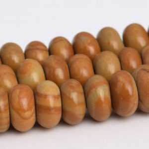 Shop Jasper Rondelle Beads! Brown Wood Skin Jasper Beads Grade AAA Genuine Natural Gemstone Rondelle Loose Beads 6x4MM 8x5MM Bulk Lot Options | Natural genuine rondelle Jasper beads for beading and jewelry making.  #jewelry #beads #beadedjewelry #diyjewelry #jewelrymaking #beadstore #beading #affiliate #ad