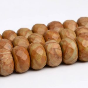 "Shop Picture Jasper Faceted Beads! 8x5MM Brown Picture Jasper Beads AAA Genuine Natural Gemstone Full Strand Faceted Rondelle Beads 14.5"" BULK LOT 1,3,5,10,50 (102991-643) 