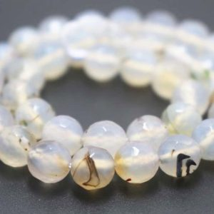 Shop Agate Faceted Beads! 128 Faceted  Agate Round Beads,6mm/8mm/10mm/12mm Gemstone Beads Bulk Supply,15 inches one starand   Natural genuine faceted Agate beads for beading and jewelry making.  #jewelry #beads #beadedjewelry #diyjewelry #jewelrymaking #beadstore #beading #affiliate #ad