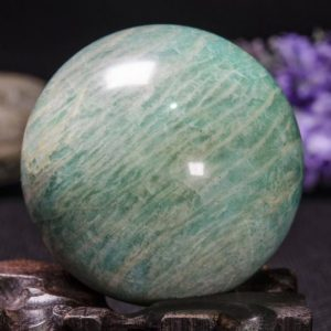 "Shop Amazonite Shapes! 2.2""large Natural Amazonite Sphere / tumbled Amazonite Ball / green Rock Sphere / hand Carved Gemstone Sphere / crystal Healing / gift-55mm-219g#3022 