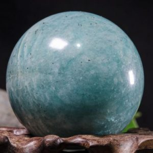 "Shop Amazonite Shapes! 2""Large Natural Amazonite Sphere/Tumbled Amazonite Ball/Green rock Sphere/Hand Carved Gemstone Sphere/Crystal Healing/Gift-52mm 192g #8784 